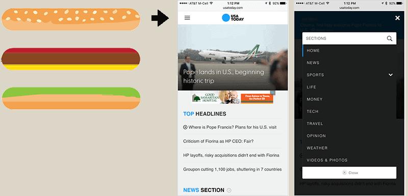 user experience design - Hamburger Menu